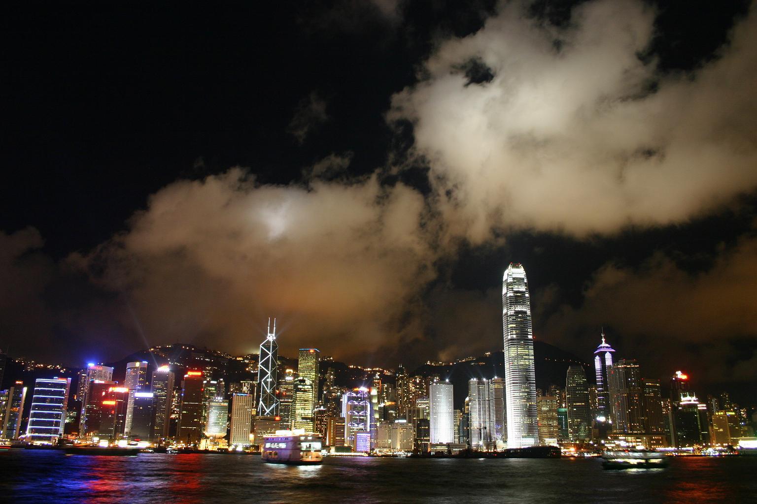 香港夜景写真